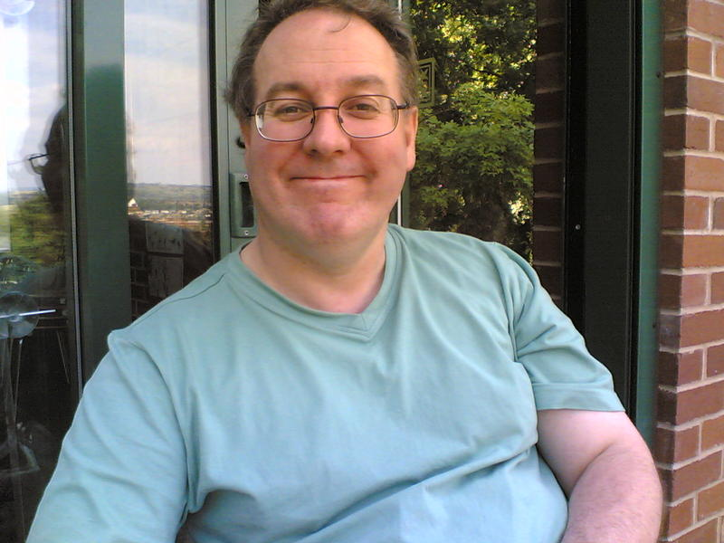This is me sat out side the Cafe in vernon park stockport circa2011