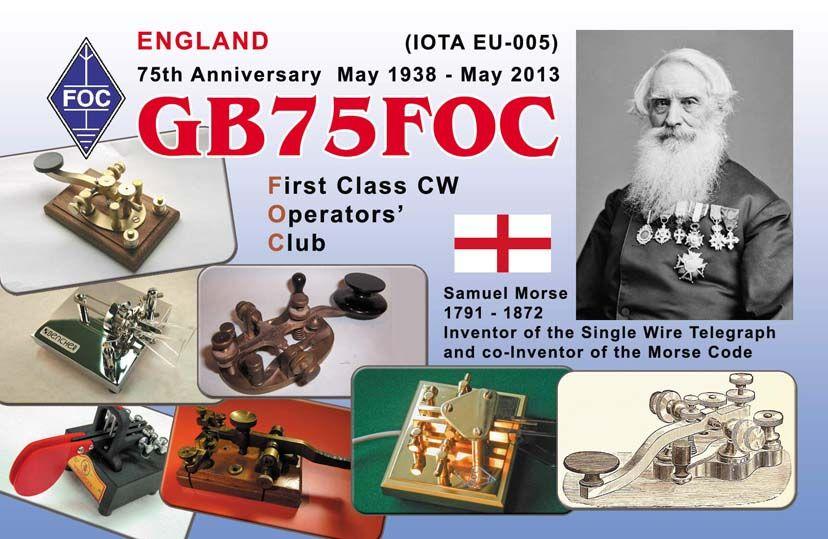 QSL image for GB75FOC