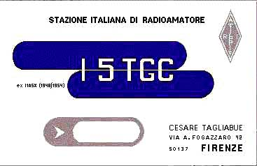 QSL image for I5TGC