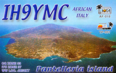 QSL image for IH9YMC