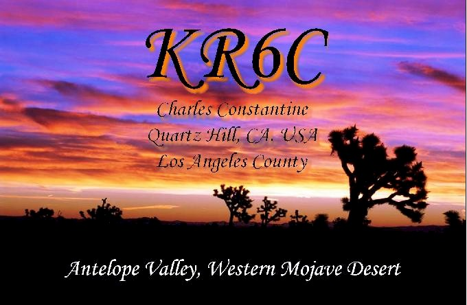 QSL image for KR6C