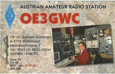 QSL image for OE3GWC