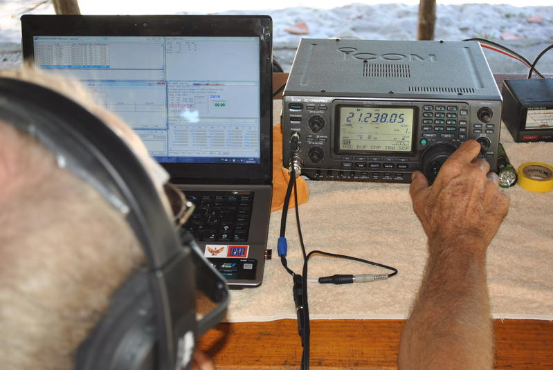 PR7ZAJ operating ZW7R's SSB station