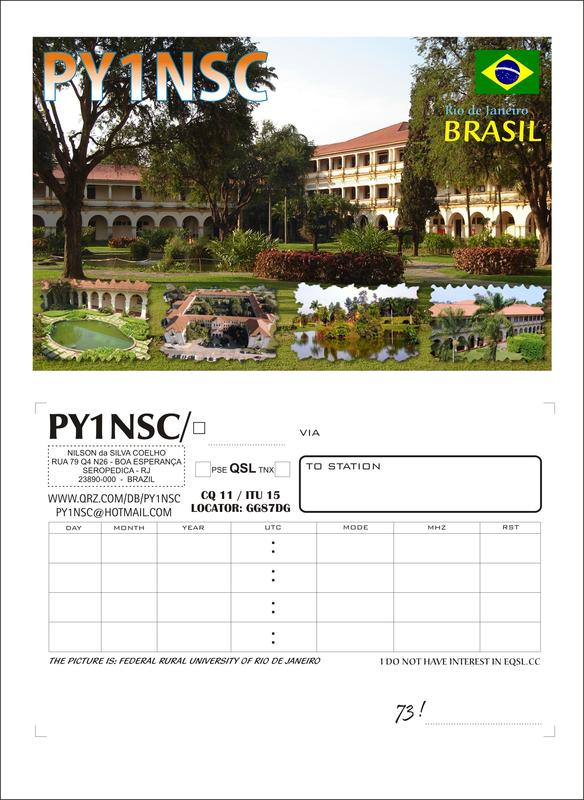 QSL image for PY1NSC