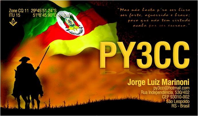 QSL image for PY3CC