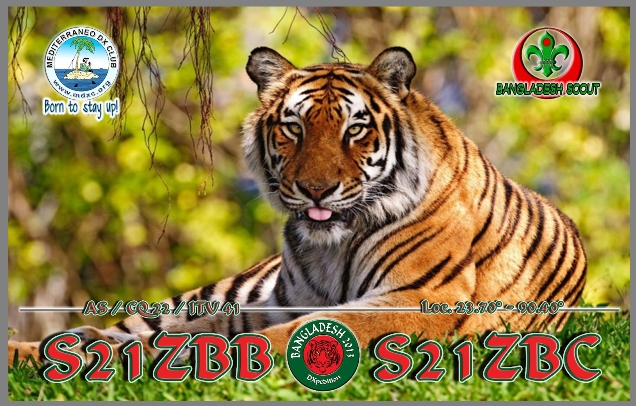QSL image for S21ZBC