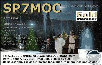 QSL image for SP7MOC