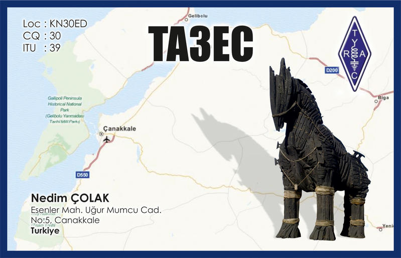 QSL image for TA3EC