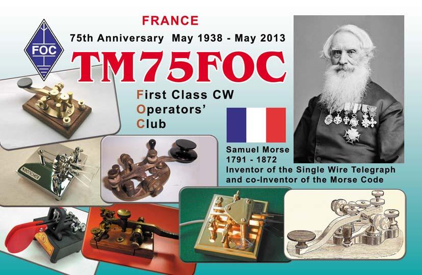QSL image for TM75FOC