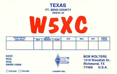 QSL image for W5XC
