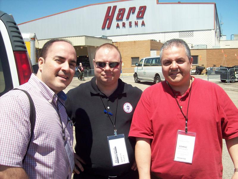 From Left to Right, Julio from AES Las Vegas, me in the middle, and Eddie from AES Orlando at the 2009 Dayton Hamvention.