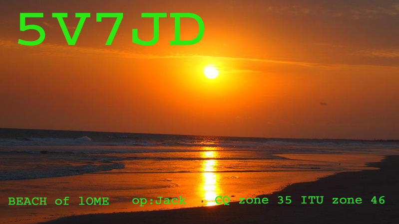 QSL image for 5V7JD