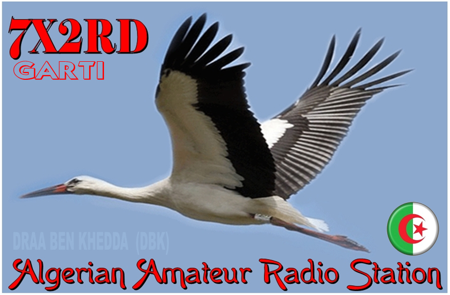 QSL image for 7X2RD