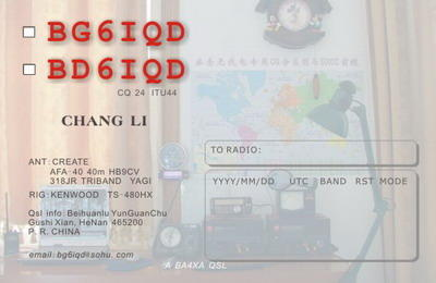 QSL image for BD6IQD