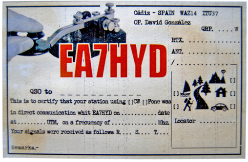 EA7HYD qsl vintage -  IF IT WANTS I design one, be contacted / puedeo dise�arle la suya