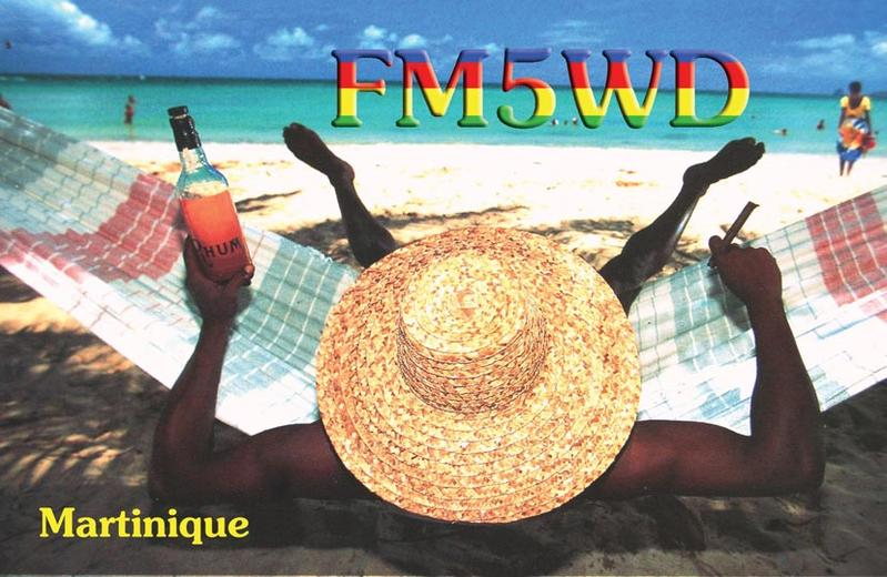 QSL image for FM5WD