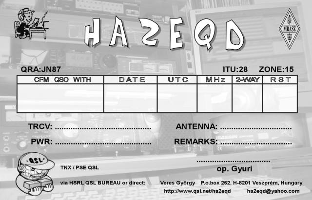 backside of my new QSL