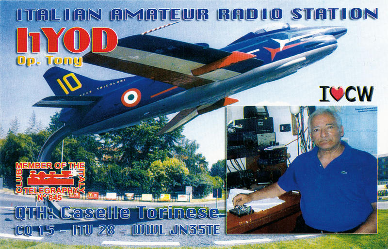 QSL image for I1YOD