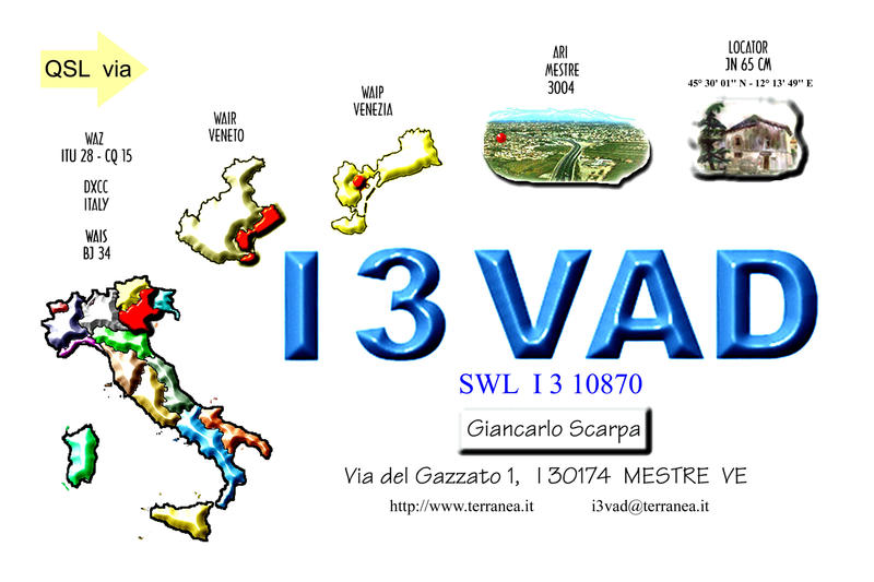 QSL image for I3VAD