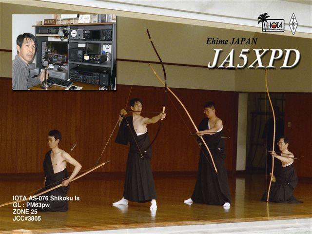 QSL image for JA5XPD