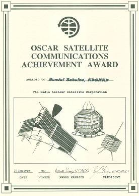 AMSAT Satellite Achevement Award
