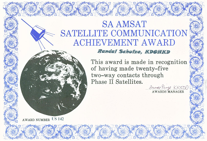 AMSAT SA Achievement Award