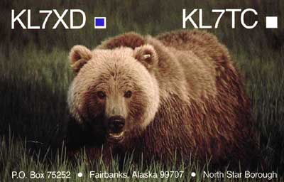 QSL image for KL7XD
