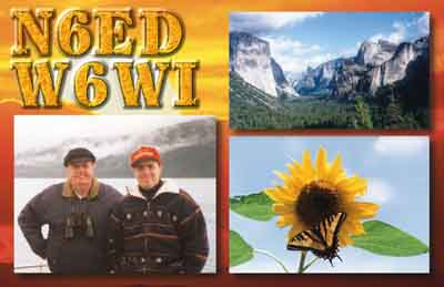 QSL image for N6ED