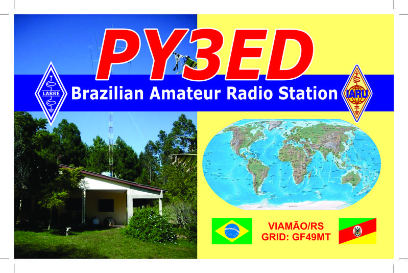 QSL image for PY3ED