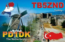 QSL image for TB5ZND