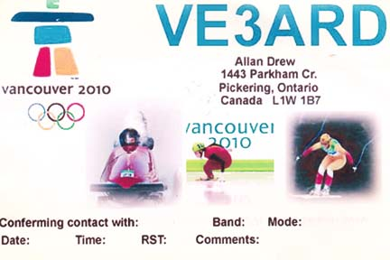 QSL image for VE3ARD