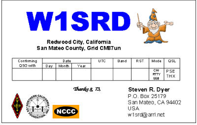 QSL image for W1SRD