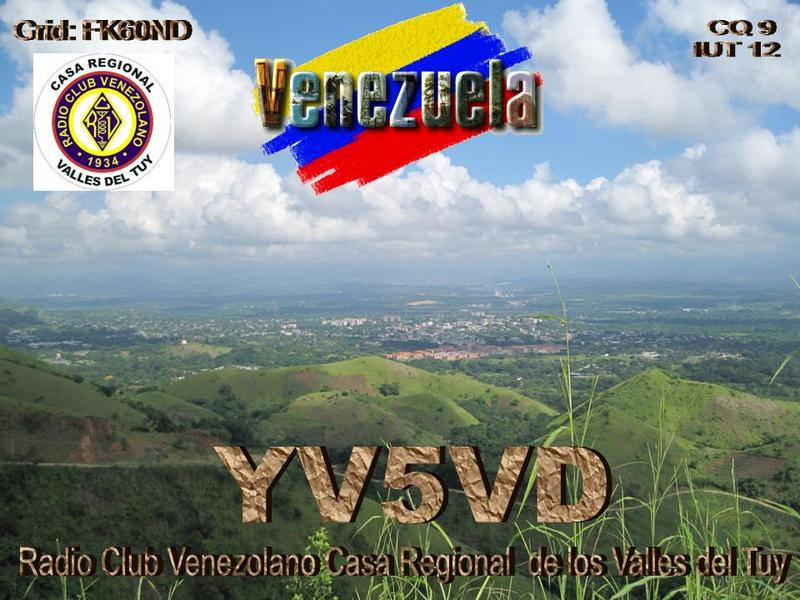 QSL image for YV5VD