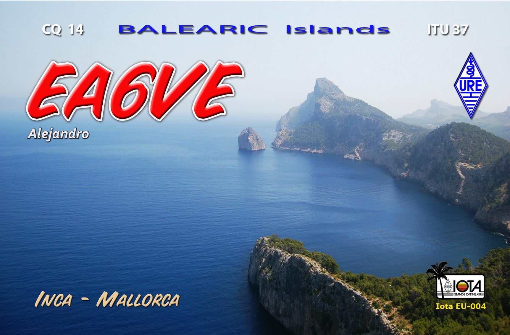 QSL image for EA6VE