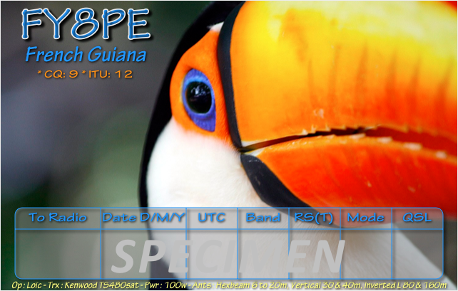 QSL image for FY8PE