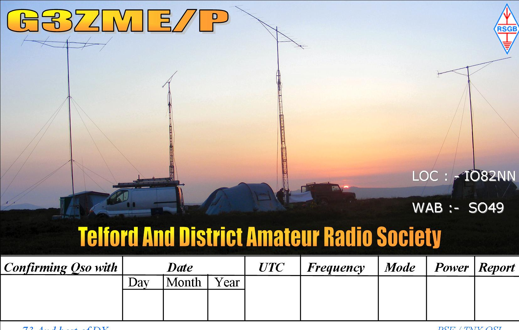 QSL image for G3ZME