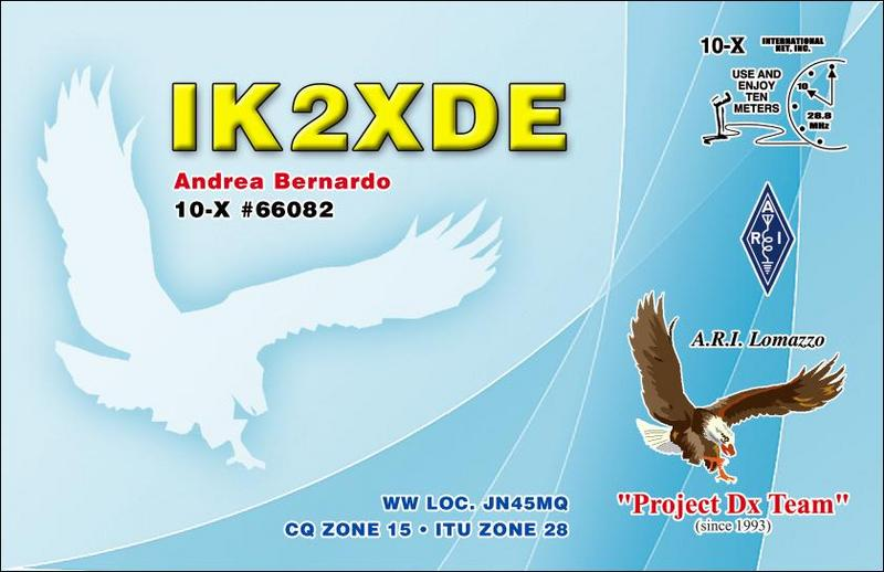 QSL image for IK2XDE