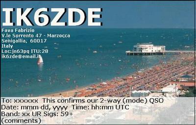 QSL image for IK6ZDE