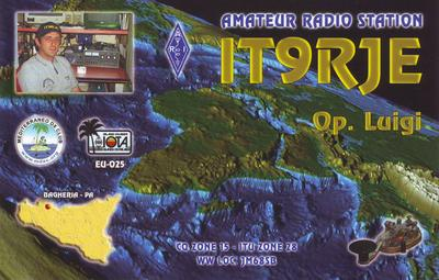 QSL image for IT9RJE