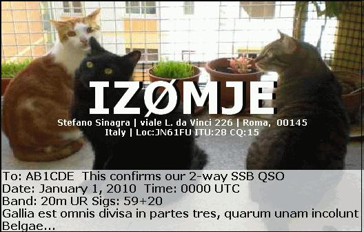 QSL image for IZ0MJE