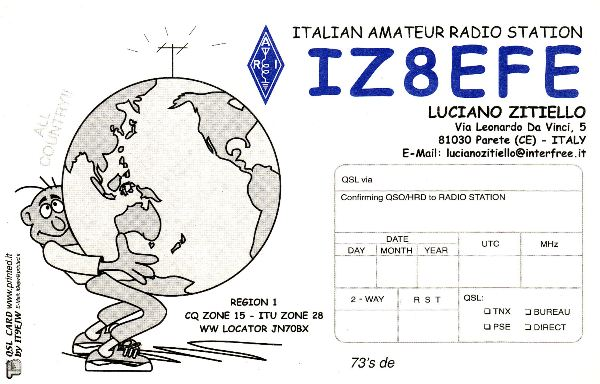 QSL image for IZ8EFE