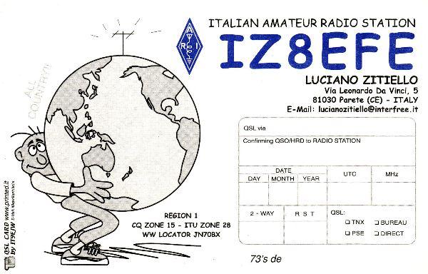 QSL image for IZ8EFE