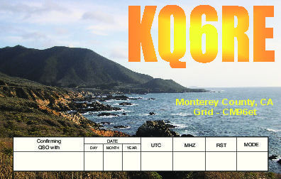 QSL image for KQ6RE