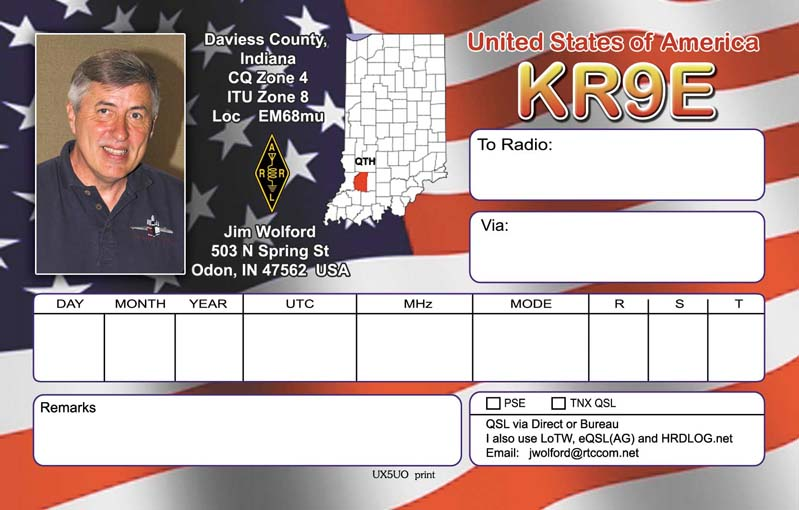 QSL image for KR9E