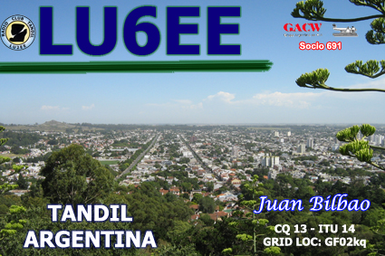 QSL image for LU6EE