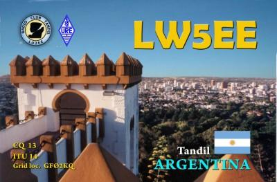 QSL image for LW5EE