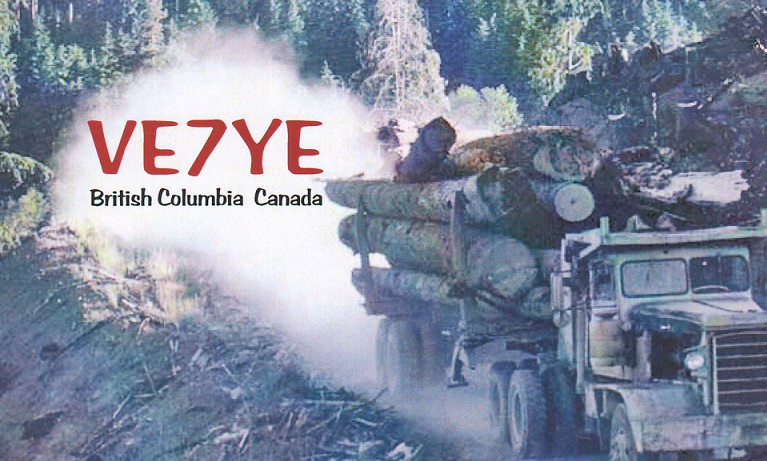 QSL image for VE7YE