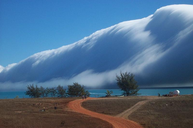 Morning Glory Cloud meets a Sea Fog at Sweers Island