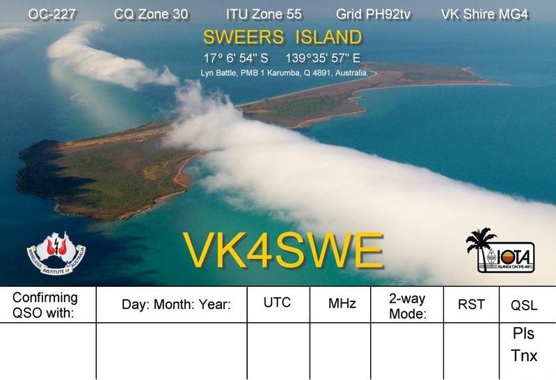 QSL image for VK4SWE