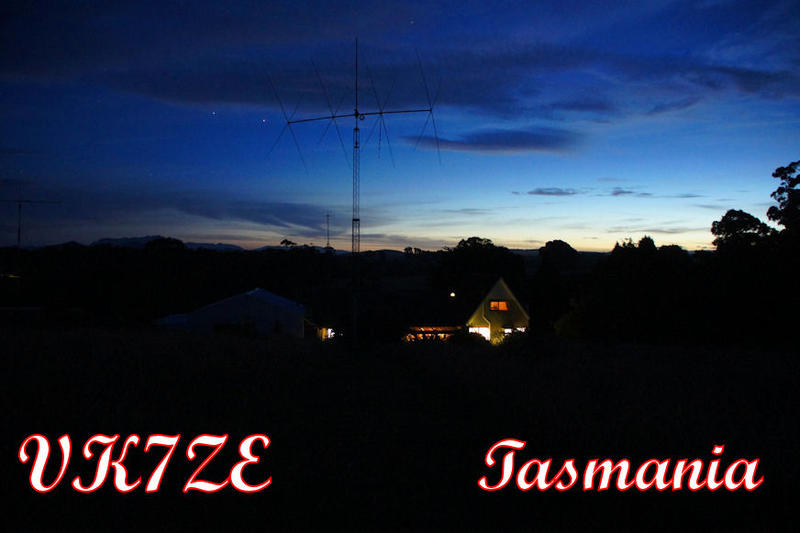 QSL image for VK7ZE
